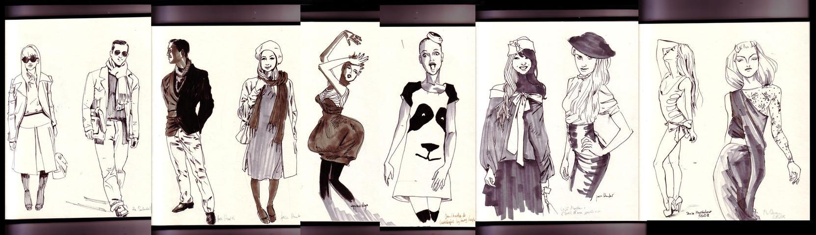 fashion sketches by MissMatzenbatzen