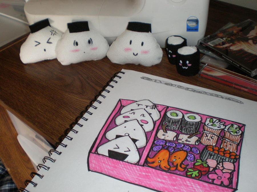 Plushie Bento Box WIP by LadyJamie
