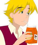Oc Kein... Tomando tranquilamente su jugo de mango by NixLeonheart