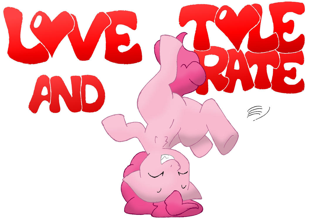 Pinkie Pie - Love and Tolerate by soranotamashii