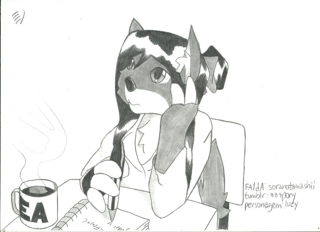 Calculus Dog by soranotamashii