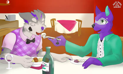 Romantic Date - COMM for Amethyst Jade
