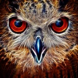 Fractalius Owl by midrevv