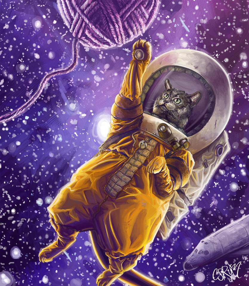 Catstronaut by CJRuiz