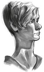 Life Drawing Head by Tsilghaah