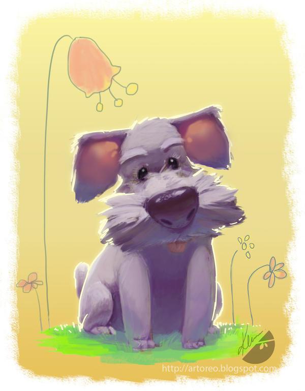 Puppy by artofkim