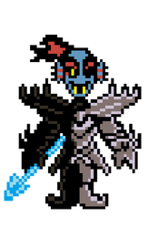 Undyne The Undying Fanmade Sprite