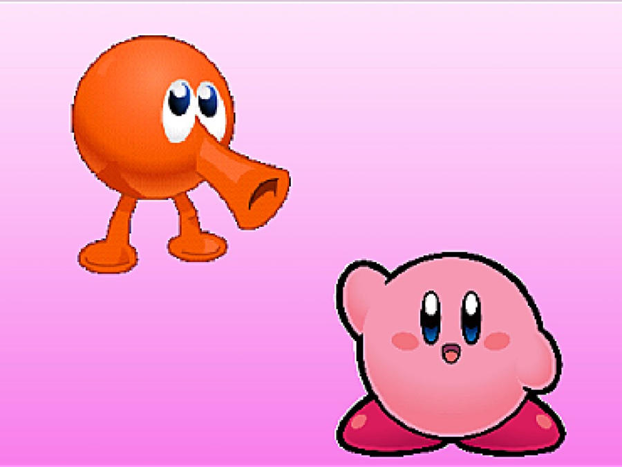 Kirby And QBert Wallpapr By RBCoolSpot
