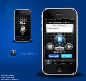 TweetVox iPhone reDesign
