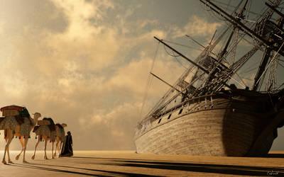 Ships of the Desert II by Conlaodh