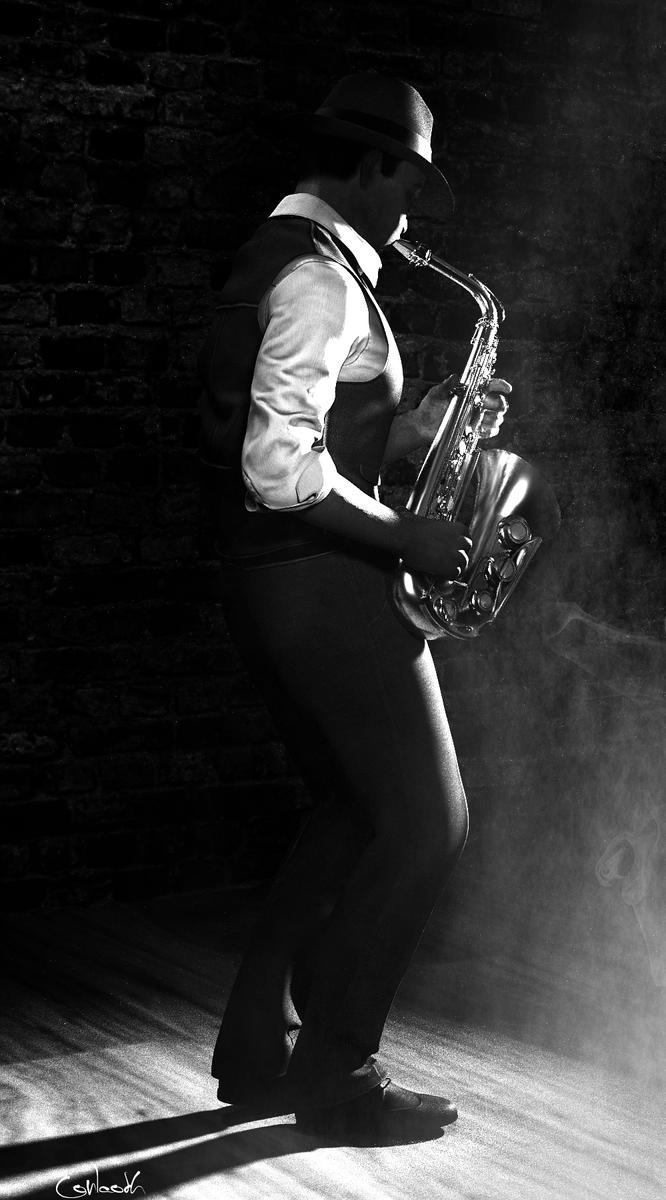 Sax Player by Conlaodh