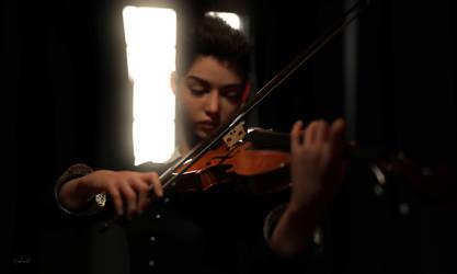 Violin Practise II by Conlaodh