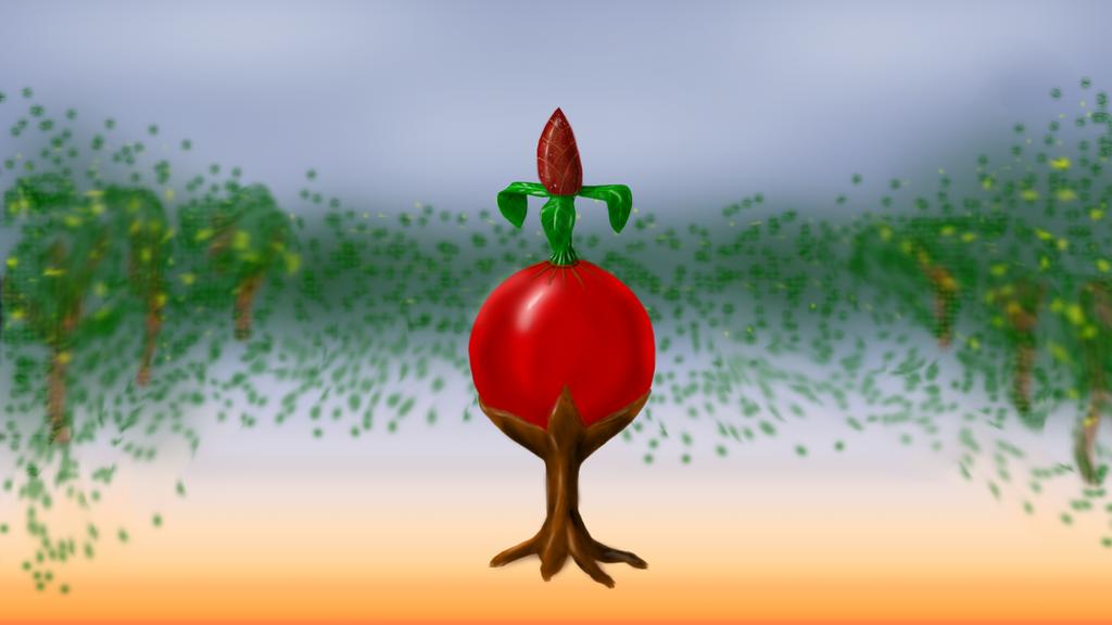 Alien flower/plant by NICHIRENSHU