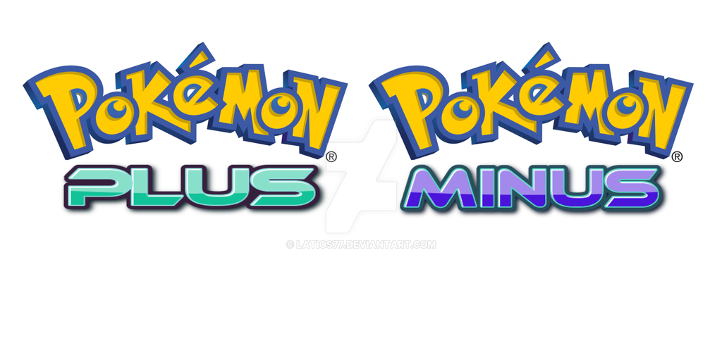 Pokemon Plus And Minus Fanmade Logos 427762754