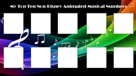Non-Disney Animated Musical Meme Template