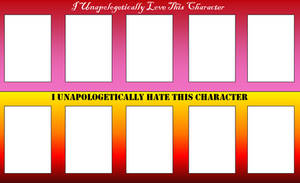 I Love-Hate This Character Template