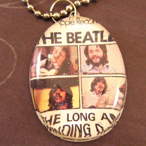 Beatles resin necklace by cbtscloset