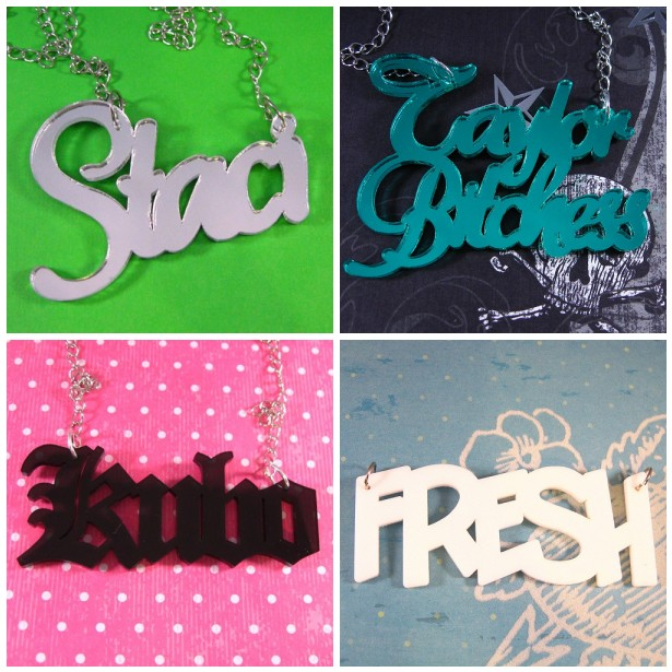 Custom Name Plate Necklaces by cbtscloset on DeviantArt