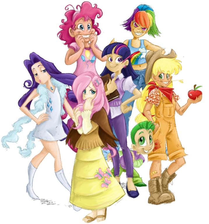 My Little Pony-Human Versions by tite-pao