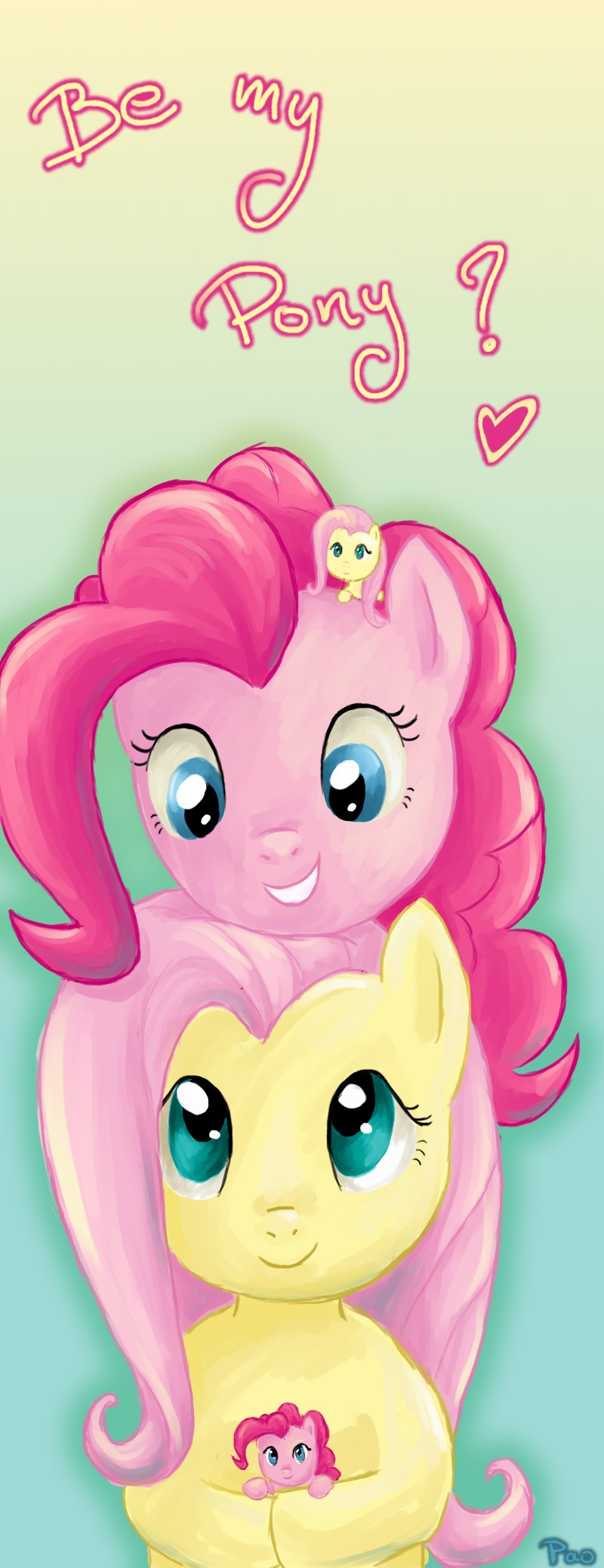 Fluttershy and Pinkie Pie by tite-pao