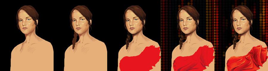 Katniss WIP by tite-pao