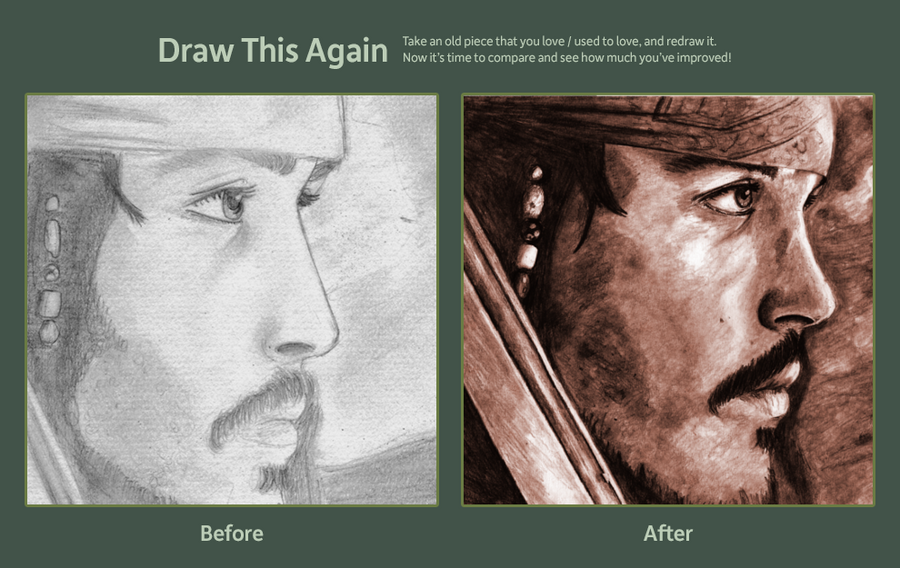 Jack Sparrow - Draw this Again Challenge by tite-pao
