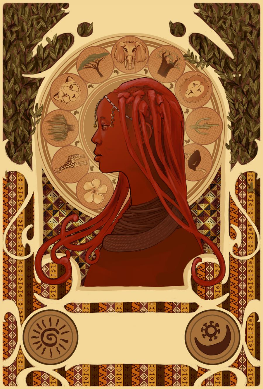 Himba - Art Nouveau by tite-pao