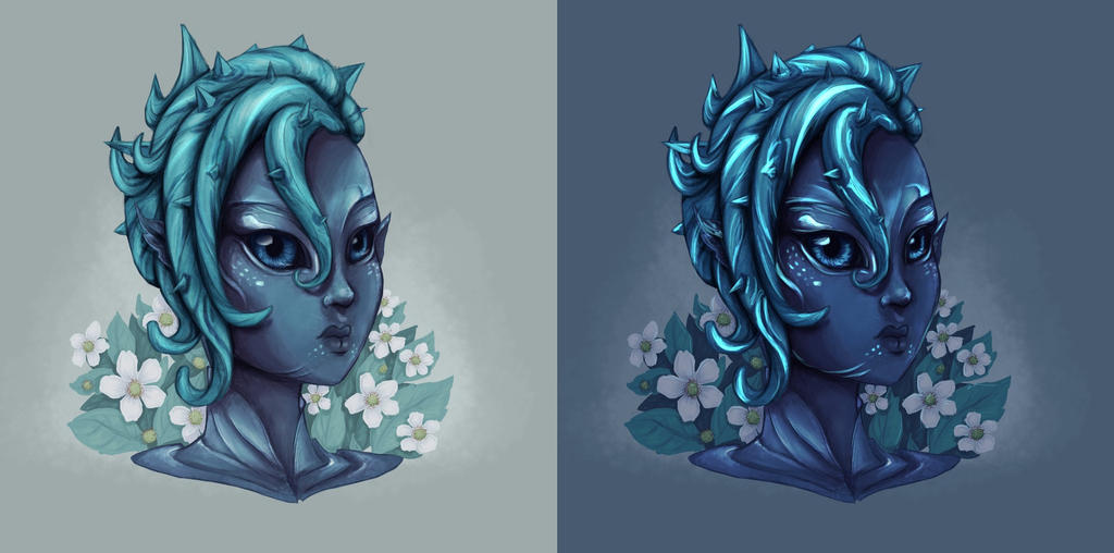 Sylvari // Night and Day by tite-pao