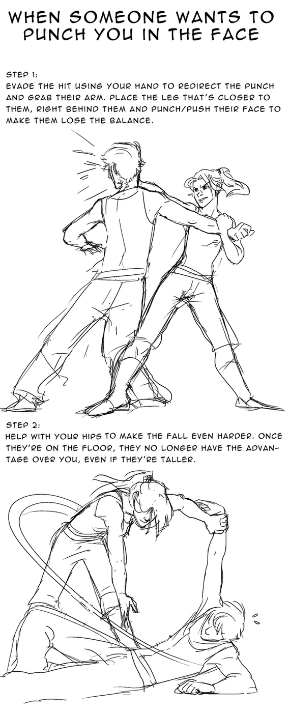 self-defense by AtomicRedBoots
