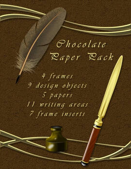 Chocolate Delight Paper Kit, by NGArtPlay