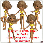Cookie Poses 2, by Bea (exclusive) by FantasiesRealmMarket
