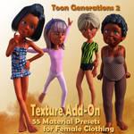 Toon Gen 2 Female Clothing Expansion Pack (G3F) by FantasiesRealmMarket