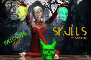 Skulls, by Summoner (freebie) by FantasiesRealmMarket