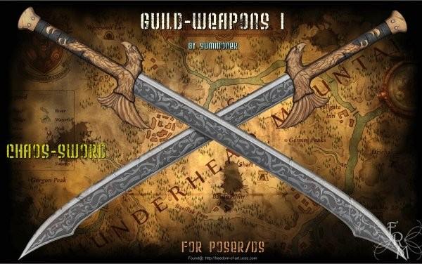 Guild Weapons 1 (freebie) by Summoner by FantasiesRealmMarket