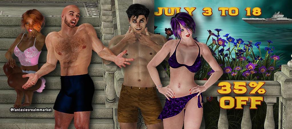 July Banner (2) by FantasiesRealmMarket