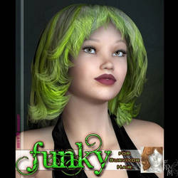 Funky: Survivor Hair, by Katt by FantasiesRealmMarket