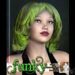 Funky: Survivor Hair, by Katt by FantasiesRealmMarket