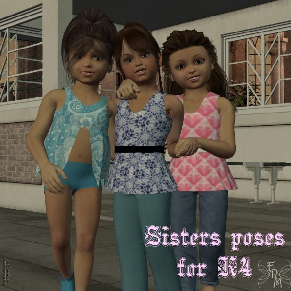 Sisters poses for K4, by Aelin (exclusive)