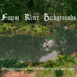Forest River Backgrounds, by Aelin Namarie (excl)