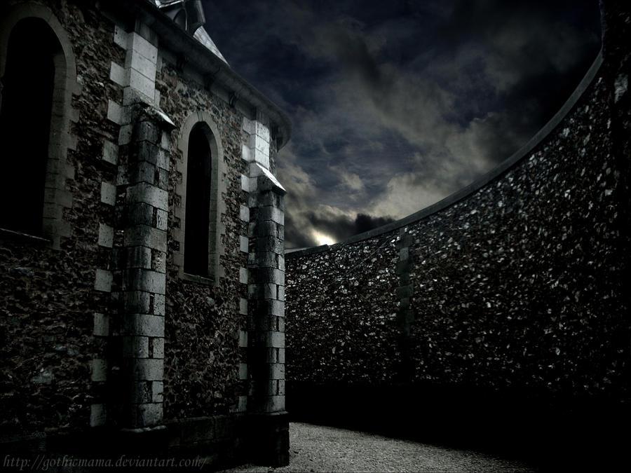 Dark Church Stock Background By Gothicmama