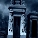 flashing cemetery photomanip by Gothicmama