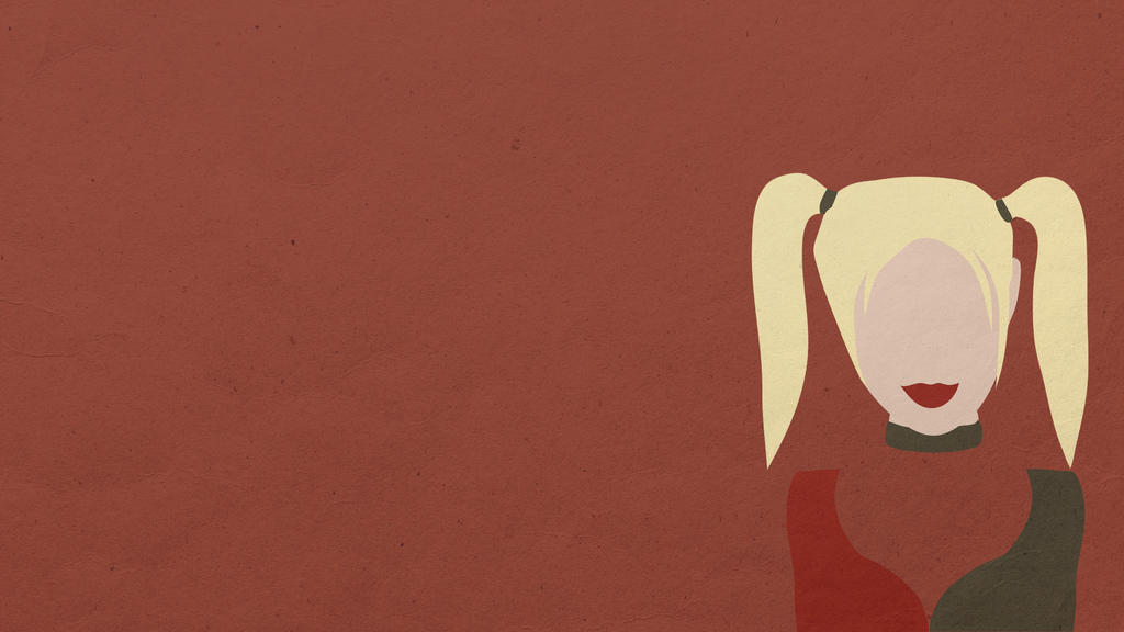 Minimalist harley quinn desktop wallpaper by p1tchb1ack on for Minimal art reddit