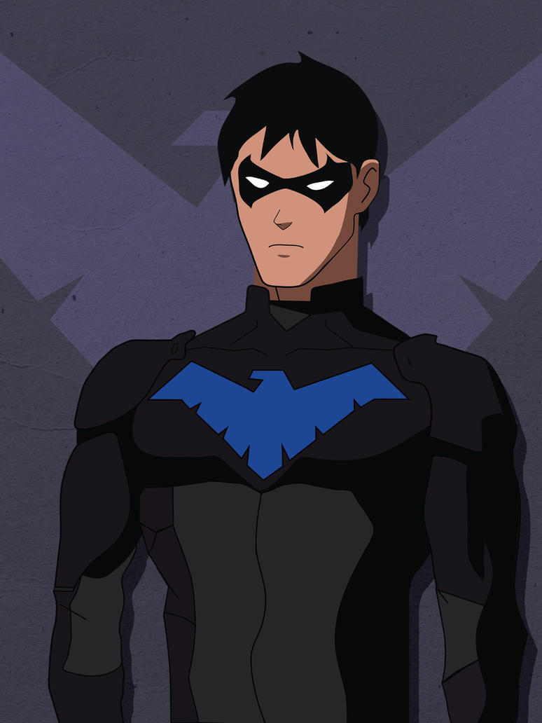 Young Justice Nightwing Mobile Wallpaper By P1tchB1ack