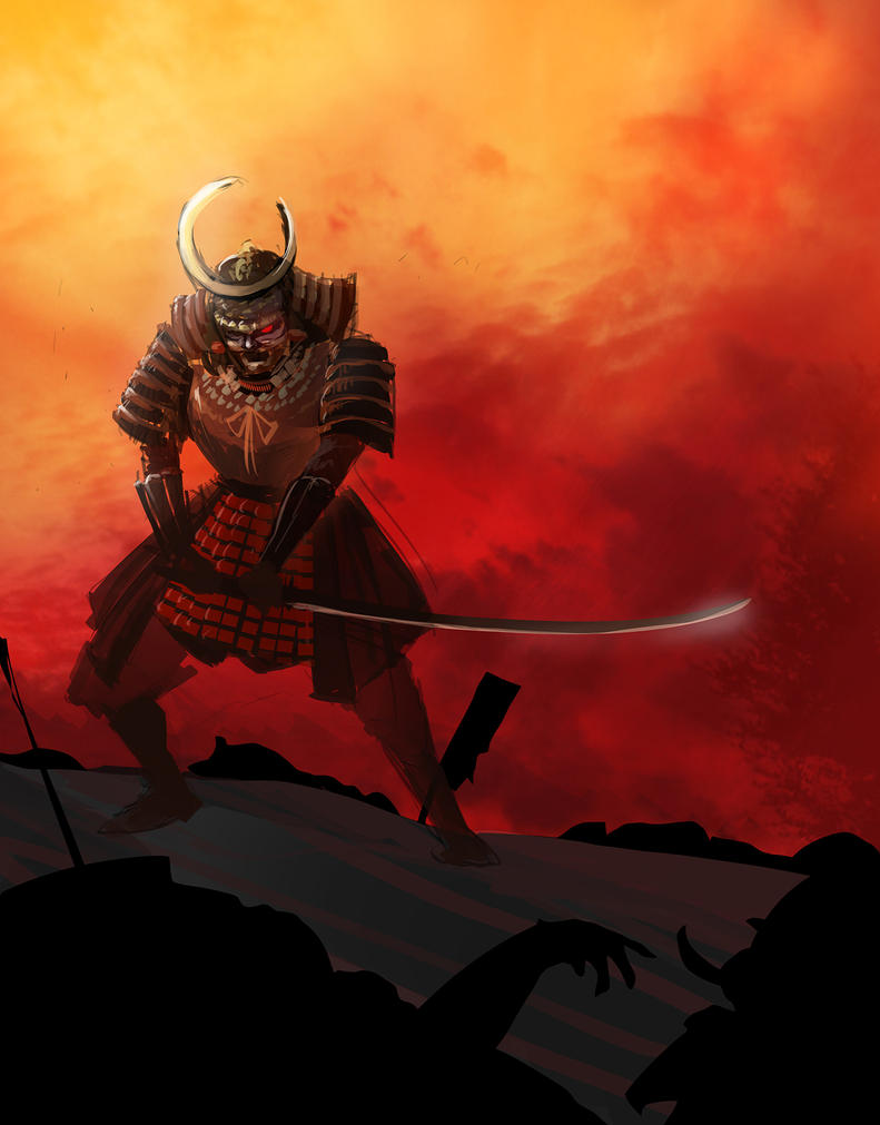 Samurai speed painting by WandererLink