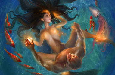 Katy's  Mermaid Transmutation 1 by Den3221