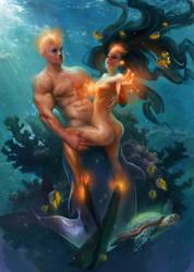 Katy's  Mermaid Transmutation 2 by Den3221