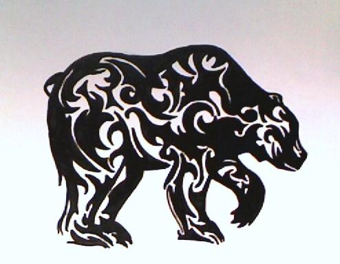 tribal bear by scarlet trigger on deviantart. Black Bedroom Furniture Sets. Home Design Ideas
