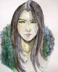 Female Face (Painted art)