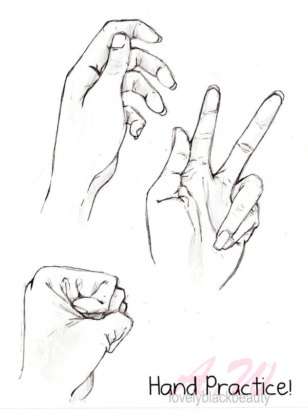 Practice: Drawing Hands by lovelyblackbeauty