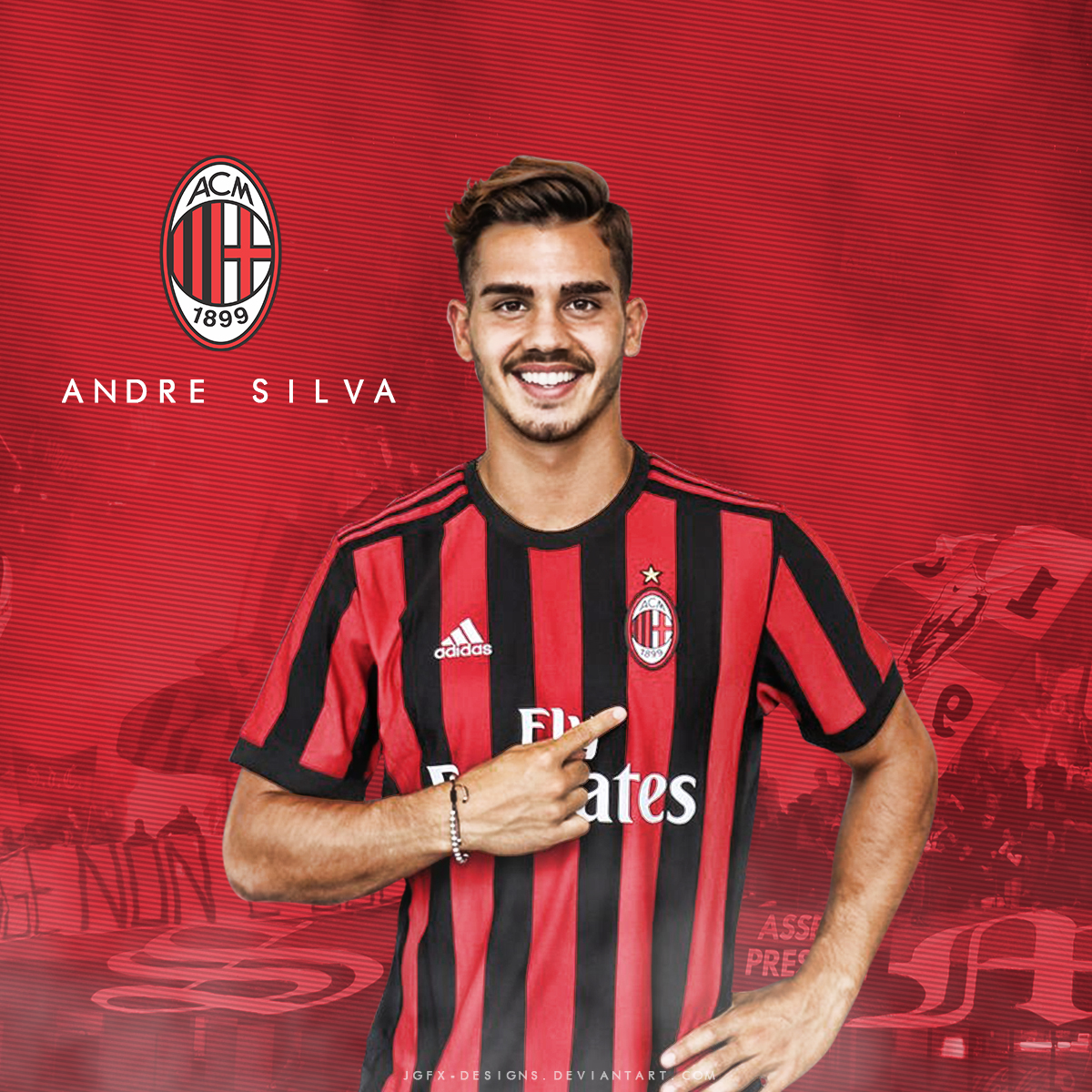 Andre Silva Wel e to AC Milan by jgfx designs on DeviantArt